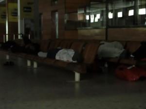 Squatt de l'aéroport